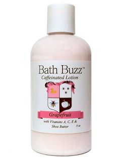 Bath Buzz Caffeinated Lotion - Grapefruit 8 oz Shop online www.simplyelegantbride.com