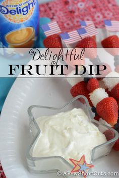 If you love fruit, you have to try this Delightful Fruit Dip Recipe. Great for parties & get togethers!