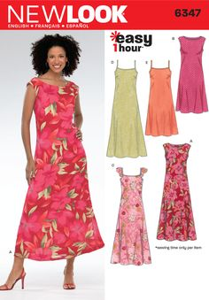 **Good one to start with, pattern says Easy! Womens Dress Pattern 6347 New Look Patterns