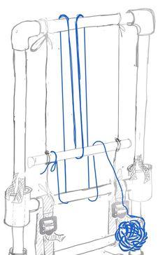 Risultati immagini per pvc weaving loom