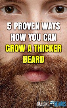 Men's Beard Grooming Tips: Grow A Thicker Beard 5 proven ways to grow a thicker beard. Beard For Round Face, Thick Beard, Bald With Beard, Mens Hairstyles With Beard, Hair And Beard Styles, Beard Growing Tips, Growing Facial Hair, Grow A Thicker Beard, Beard Hair Growth