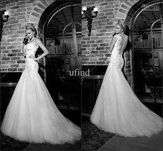 Galia Lahav 2013 2014 Giselle Bridal Gown Spaghetti Neckline Fit And Flare With Tulle Back Appliques Sequins Tulle Wedding Dresses BRI-069