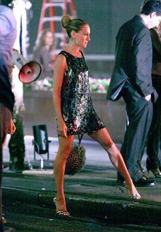 --- Sarah Jessica Parker - SATC - Carrie Bradshaw - set - sex and the city