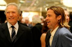 Director Clint Eastwood (L) and actor Brad Pitt attend the 12th Annual AFI Awards held at the Four Seasons Hotel Los Angeles at Beverly Hills on January 13, 2012 in Beverly Hills, California.