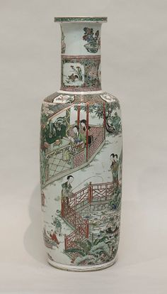 Famille Verte Vase. Qing Dynasty Kangxi Period. The Metropolitan Museum of Art.