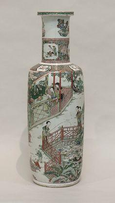 Famille Verte Vase. Qing Dynasty Kangxi Period. The Metropolitan Museum of Art.
