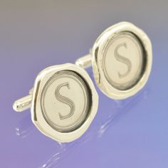 Wax seal cufflinks. handmade with your own initials in a selection of fonts.
