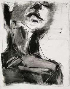 Tim Dayhuff - drawing - after Ruiz - August 2014 - charcoal and white pastel on paper - 11 x 14 in