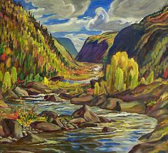 Alexander Young Jackson, 'Agawa Canyon' at Mayberry Fine Art 32 x 35 Group Of Seven Artists, Group Of Seven Paintings, Tom Thomson, Canadian Painters, Canadian Artists, Abstract Landscape, Landscape Paintings, Acrylic Paintings, Emily Carr Paintings