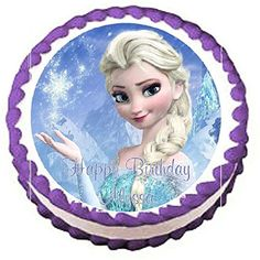 Frozen Elsa Edible Frosting Sheet Cake Topper 75 Round ** Learn more by visiting the image link. Elsa Birthday Cake, Frozen Themed Birthday Party, Birthday Cake Toppers, Elsa Frozen, Frozen Steak, Frozen Salmon, Elsa Cakes, Frozen Cake Topper, Edible Cupcake Toppers