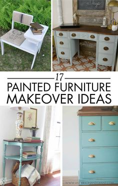 Upcycle your outdated decor with a coat of fresh paint to give it a new life. These 17 painted furniture makeover ideas will give you inspiration to do just that.