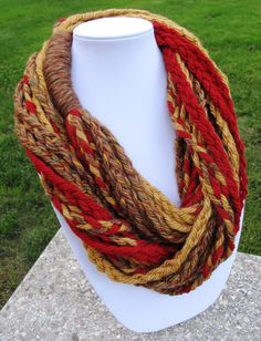 Emmie Style Infinity Braid Scarf 100 USA by AnnmadeCraftsSeattle, $45.00