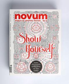 Novum letter-pressed magazine cover