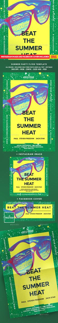 Summer Flyer #beach #beachhouse #openair #party #pool #retro #summer #summerbash #summerbeach #summerflyer #summerholiday #summerparty