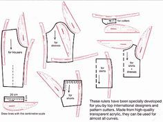Purpose of the tailors French curve rulers