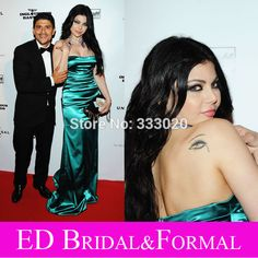 Haifa Wehbe Red Carpet Dress 2009 Cannes Film Festival After Party Elastic Satin…