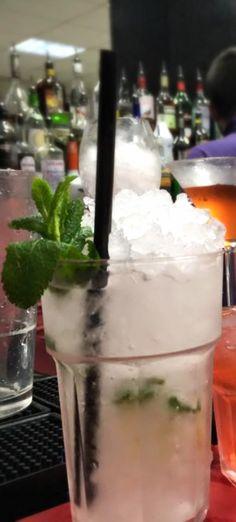 Mojito Cocktail   Ingredients: 1 1/2 oz White rum, 6 leaves of Mint, Soda Water, 1 oz Fresh lime juice, 2 teaspoons Sugar
