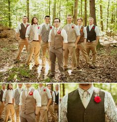 groomsmen - love plaid shirt with the vest and long tie :) |Pinned from PinTo for iPad|