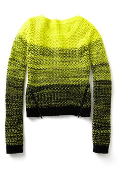 Take your Cosby sweaters to the next level by introducing a neon splash to your cozy layers.
