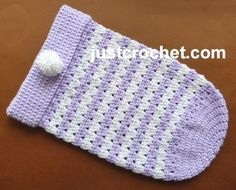 Newborn Sleep Cozy Free Crochet Pattern from Heather at Just Crochet!