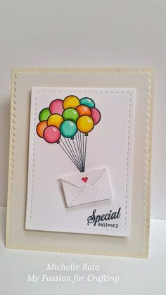 My Passion for Crafting: Special Delivery - Diy Birthday Cards Creative Birthday Cards, Handmade Birthday Cards, Happy Birthday Cards, Diy Birthday, Origami Birthday Card, Special Birthday, Diy Crafts For Gifts, Paper Crafts, Birthday Card Drawing