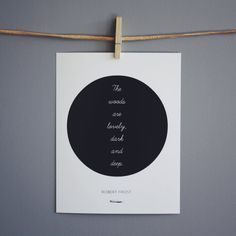 Robert Frost Print   Literary Quote  Typography by NeverMorePrints, $15.00
