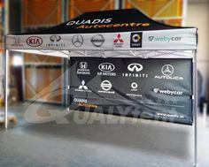 Carpas plegables publicitarias realizadas mediante impresión digital full print. Carpa de 3x4.5m impresa para Quadis Honda, Carp, Digital Prints, Business, Impressionism