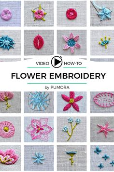 Thrilling Designing Your Own Cross Stitch Embroidery Patterns Ideas. Exhilarating Designing Your Own Cross Stitch Embroidery Patterns Ideas. Embroidery Stitches Tutorial, Embroidery Flowers Pattern, Learn Embroidery, Embroidery For Beginners, Hand Embroidery Designs, Embroidery Kits, Embroidery Techniques, Ribbon Embroidery, Floral Embroidery