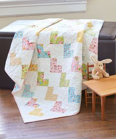 What's more appropriate than hearts for a new baby? Wrap a little one in handmade love with this sweet baby quilt project. It's a great first project for a beginning quilter.