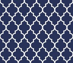 Navy Quatrefoil Fabric and Wallpaper. This shade, 30 others or request your own shade from Sparrowsong @ Spoonflower!