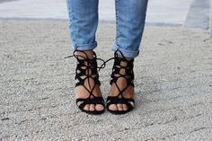 Lace Up Heels Zara