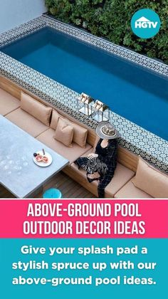 Above Ground Pool Landscaping, Small Backyard Pools, Swimming Pools Backyard, Backyard Landscaping, Outdoor Projects, Outdoor Decor, In Ground Pools, Pool Houses, Outdoor Areas
