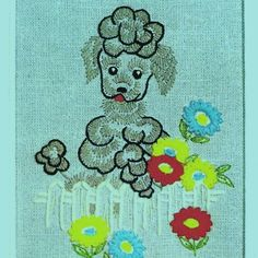 Vintage 1962 Poodle Embroidery Kit