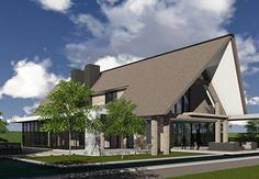 Mooie uitbouw, plat dak met overstek (event. met dakterras voor de kids) .