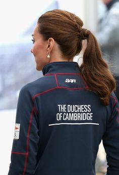 Kate's ponytail : The Duke And Duchess Of Cambridge Attend The America's Cup World Series - July 26, 2015
