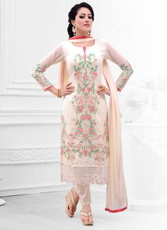 Integral Cream Salwar Kameez  Email - support@ethnicoutfits.com Call - +918140714515 What's app / Viber - +918141377746