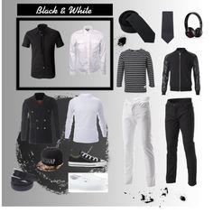 """Black & White"" FLATSEVENSHOP.COM #menswear #denim #mens fashion #blazer #mens clothes #shirts mens"