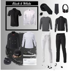 """Black & White"" by flatseven on Polyvore FLATSEVENSHOP.COM"