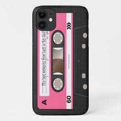 Hot Pink Retro Cassette Tape Personalized Case