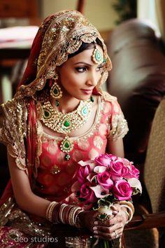 Big Fat Indian Wedding, Indian Wedding Outfits, Bridal Outfits, Indian Outfits, Bridal Dresses, Indian Weddings, Bridal Bouquets, Saris, Beautiful Indian Brides