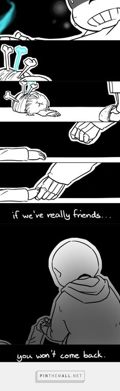 Sans and Chara - comic... I'll just go cry over there...