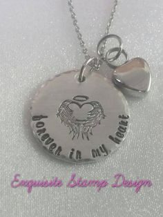 Forever In My Heart  Memorial Jewelry  by ExquisiteStampDesign