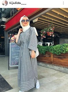 Hijab Fashion Summer, Modern Hijab Fashion, Islamic Fashion, Abaya Fashion, Muslim Fashion, Modest Fashion, Fashion Dresses, Casual Hijab Outfit, Hijab Chic