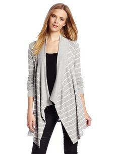 Velvet Women`s Monett Stripe Thermal Open Cardigan $100.00 (save $19.00)