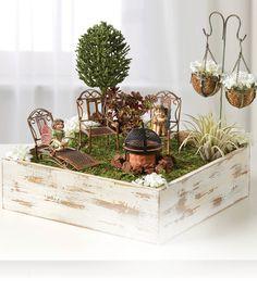 Fire Pit Fairy Garden | Fairy Garden Inspiration | Fairy Garden