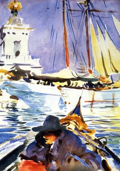 The Athenaeum - The Dogana (John Singer Sargent - )