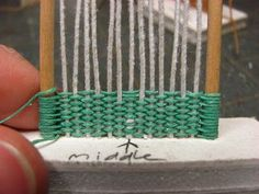 Dollhouse Miniature Furniture - Tutorials   1 inch minis: 1 INCH SCALE WICKER CHAIR TUTORIAL - How to make a 1 inch scale wicker chair for your dollhouse.