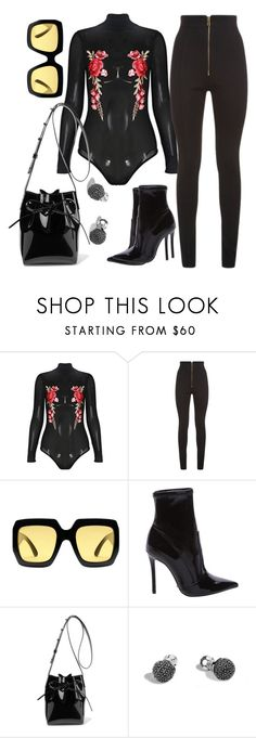 """""""Blossom!"""" by sheekshat ❤ liked on Polyvore featuring Balmain, Gucci, Schutz, Mansur Gavriel and John Hardy"""