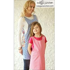 Crossback Reversible Apron sewing pattern by Indygo Junction – IndygoJunction How To Make Aprons, Child Apron Pattern, Sewing Aprons, Kids Apron, Quilting For Beginners, Apron Dress, Adult Children, Sewing Projects, Sewing Patterns