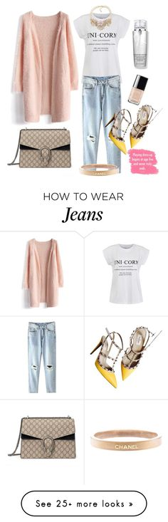 """""""PLAYING dressy! 25.feb 2016"""" by eiliana on Polyvore featuring Chicwish, Ally Fashion, Chanel, Carolee, Valentino, Gucci and Lancôme"""